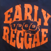 EARLY REGGAE 1969 T-SHIRT NAVY & ORANGE
